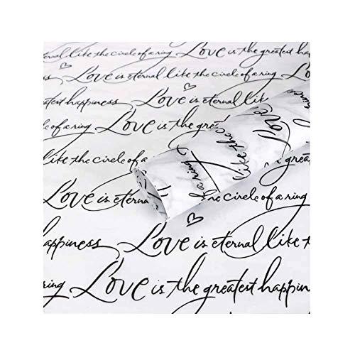 Pigeon Fleet Dekorative Blumen Geschenkpapier Englische Wörter Blumenladen Verpackungsmaterial, 30 Stück