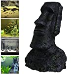 Dairyshop Easter Island Big Statue Aquarium Ornament Fish Tank Rock With Face Heads Decor 2017 9