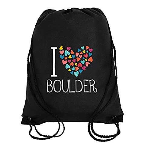 I love Boulder colorful hearts Sport Bag