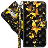 MRSTER Compatibile con Nokia 6 Custodia, Creativo 3D Design [Funzione Stand] [Magnetica] [Slot Carte] Flip Pelle PU Cover Protettiva Caso per Nokia 6 2017. YX 3D 4