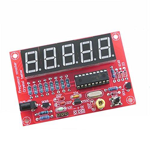 lzn DIY Digital LED 1Hz-50MHz Kristall Oszillator Frequenz Zähler Meter Tester Kit