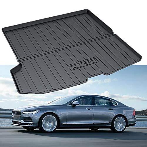 MAOMAOQUEENss Gummi Kofferraummatte Kompatibel Mit Volvo XC60 / XC90 / S60L / V90CC / V40 / S90,Kofferraummatte,Klappbar,Ideale Passgenauigkeit - HöChste QualitäT - Geruchlos,V90CC-2019