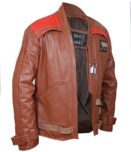 F&H Men's Star Wars The Force Awakens Finn John Boyega Jacket brown