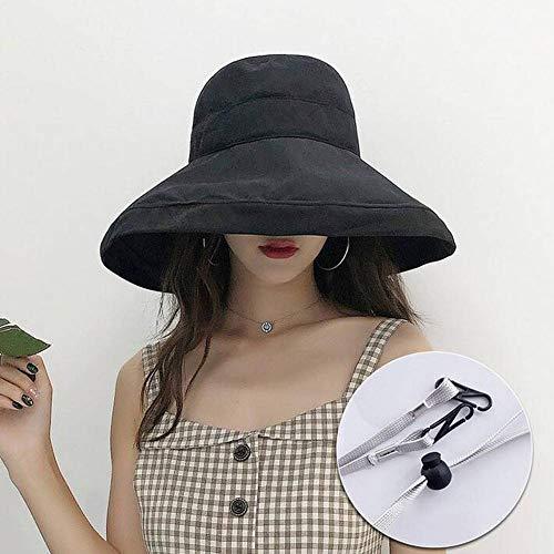 QWE Fischer - Hut WEIBLICHE einfarbig Joker große beschnittene Sonnenschirm Becken - Kostüm Fischer Hut