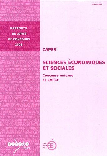 CAPES Sciences Economiques et Sociales : Concours externe et CAFEP par Gilles Jacoud