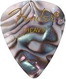 Fender 351 Classic Celluloid Picks 12-Pack (Couleurs assorties) Abalone (Heavy) - Lot de 12 médiators