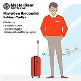 MasterGear - Valise à Roulettes - Bagage à main - Taille Cabine: 55 x 35 x 20 cm - Avec Cadenas - Rouge