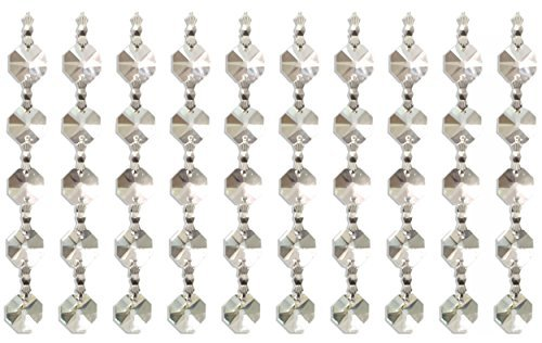 Royal Designs Replacement Crystal Prism, 5 K9 Quality Beads with Chrome Connectors by Royal Designs, Inc