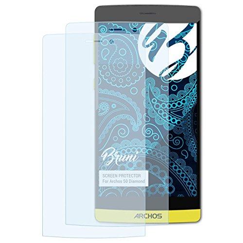 Bruni Schutzfolie kompatibel mit Archos 50 Diamond Folie, glasklare Bildschirmschutzfolie (2X)