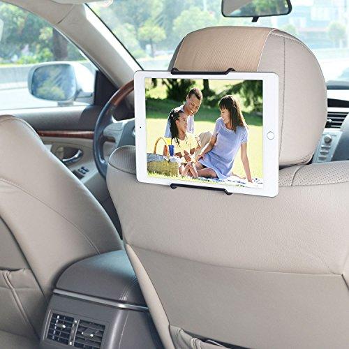 WANPOOL Auto Kopfstützenhalterung für iPad 2/3/4/iPad Air/Air 2/ iPad Pro 9,7 und andere Kindertablets, Beige