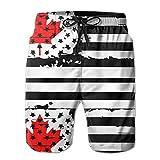 shyly STDKNSK9 Mens USA Flag Canada Boardshorts Beach Shorts,M