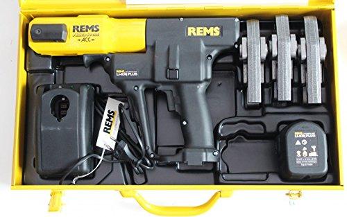 Preisvergleich Produktbild REMS Pressmaschine Akku Press ACC Nr 571014 + 3 Pressbacken Presszangen M oder V