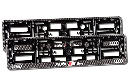 2-x-number-plate-holders-carbon-effect-finish-car-registration-surrounds-front-rear-frames-for-audi-