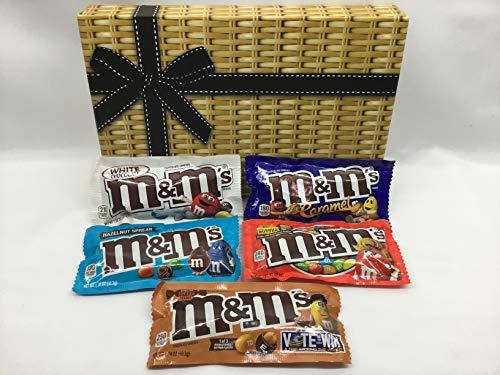 American M&M's Chocolate Hamper Gift Box - Peanut Butter - Hazelnut Spread - White Chocolate - English Toffee Peanut - Caramel m&ms - New Flavours -