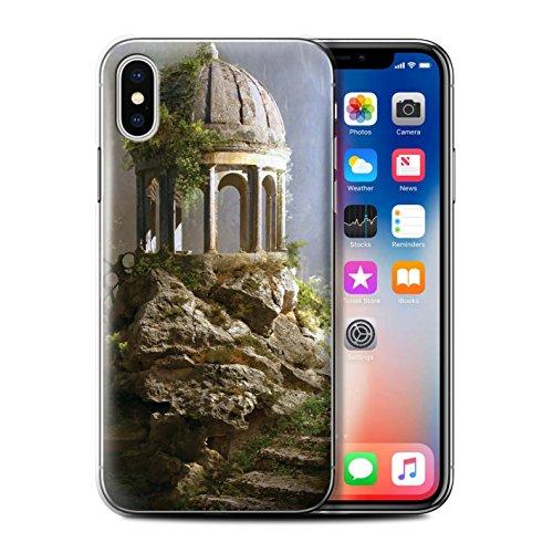 Offiziell Elena Dudina Hülle / Case für Apple iPhone X/10 / Ozean Trümmer Muster / Fantasie Landschaft Kollektion Alten Tempel