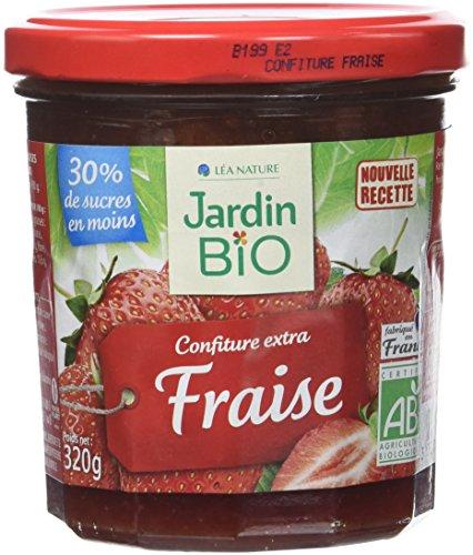 Jardin Bio Confiture Extra Fraise 320 g - Lot de 3