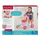 Fisher-Price CGN65 Princess Mommy Musikspaß Puppenwagen Lauflernhilfe in rosa und pink mit Motorikspielzeug, ab 9 Monaten, rosa