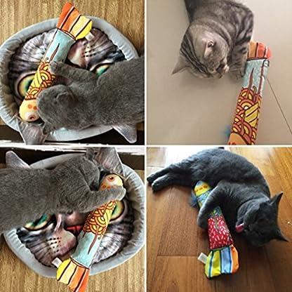 VWH Catnip Cat Toys Animal Plush Fish Play Toy 3D Fish Cushion Pillow (20cm gold) 3