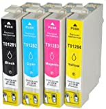 4 Epson T1285 Compatible Ink Cartridges for Epson Stylus S22, SX125, SX130, SX235W, SX420W, SX425W, SX435W, SX445W, SX620FW Inkjet Printers - T1285 Multipack