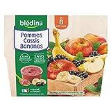 Blédina 4 Coupelles Pommes Cassis Bananes dès 8 mois