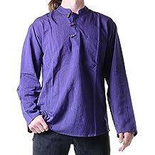 Fischerhemd Kurtha Uni Überzieher Hemd Poncho Mittelalter Nepal