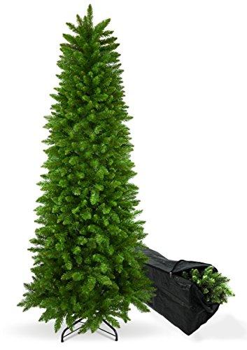 Albero di Natale Slim Apollo 210 cm con BORSA PORTA ALBERO