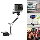 Gelenkarm magic arm 27,94CM einstellbarer Video/ DSLR Gelenkarm + Super Breite Handy Clip + Hi-Torque Knob Schraube + Gopro Adapter flexibler Schwenkarm für Gopro Actioncam Sony Nikon Canon Kamera Smartphone Handy