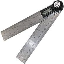 Lzndeal Prolongador Electrónica,Ideal para Medir Con una Precisión Muy Alta,Regla Con Pantalla de LCD,Buscador Digital Para Medir el Ángulo de las Herramientas,Escuadra Universal Con un Rango de medición 0° hasta 360°