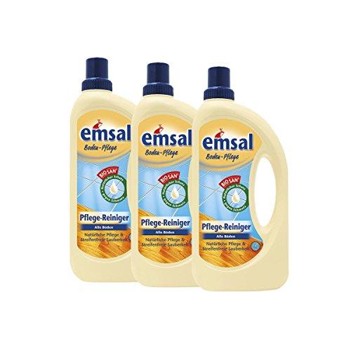 3x emsal Boden-Pflege Pflege Reiniger 1 Liter mit Biosan - Natürliche Pflege