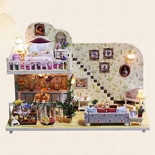 iniatur DIY Haus Kit Pädagogisches Handgemachtes Montage Modell Kreative Zimmer Mit Möbel (K-023 Kabine in Amsterdam) ()