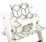 Sitzkissen beschichtet für Stokke Tripp Trapp - Weiß mit Schwarz ♥