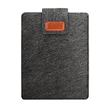 "MoKo Kindle Oasis 2017 Felt Sleeve Hülle - Tragbar Filz Schutzhülle Tasche Kompatibel mit Amazon Fire 7 2019/2017, iPad Mini 4/3/2/1, Samsung Galaxy Tab S2 8.0, Tab 3 7.0, Nexus 7"" Tablet, Dunkelgrau"