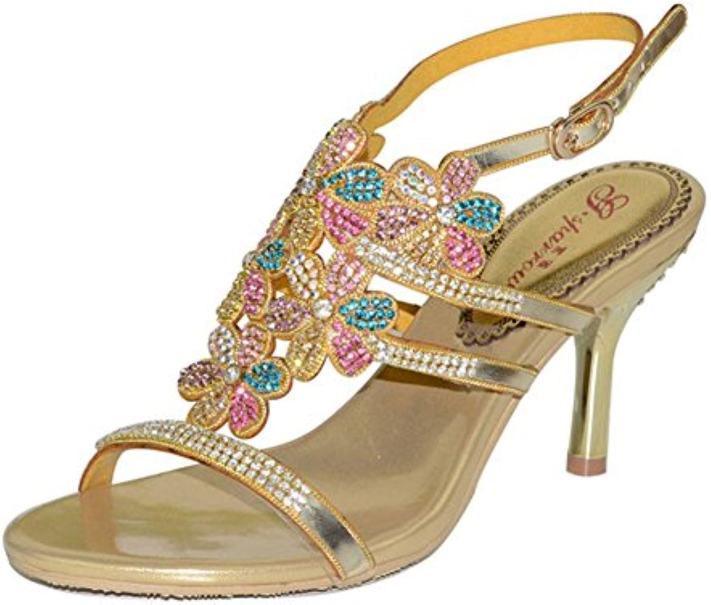 New strass sandali scarpe con tacco sera sandali matrimonio grande cantiere, US9 EU40 UK7 CN41 | Prezzo Pazzesco  | Sig/Sig Ra Scarpa