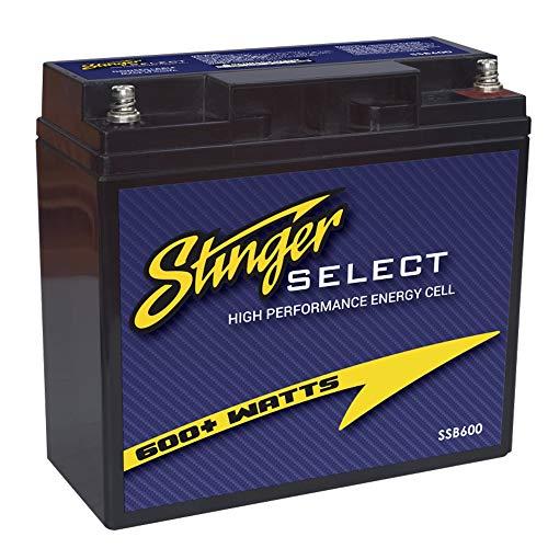 Stinger SELECT SSB600 Zweit-Batterie 600W 20AH Absorbent Glass Mat (AGM)   19,1 x 18,1 x 7,6 cm