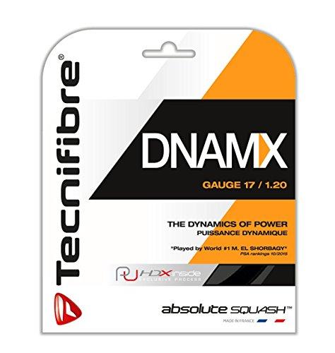 TECNIFIBRE Squashsaite DNAMX SQUASH Black 1,20mm, 9,5 mtr Garnitur, 122380 Test