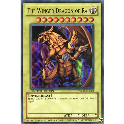 YuGiOh : YGLD-ENG03 1st Ed The Winged Dragon of Ra Ultra Rare Card - ( Yu-Gi-Oh! Single Card ) by Deckboosters