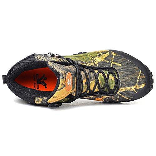 Chaussures de randonnée Unisexe Waterproof Hiver Outdoor haute-top Trekking Chaussures Escalade bottes 82289 camouflage