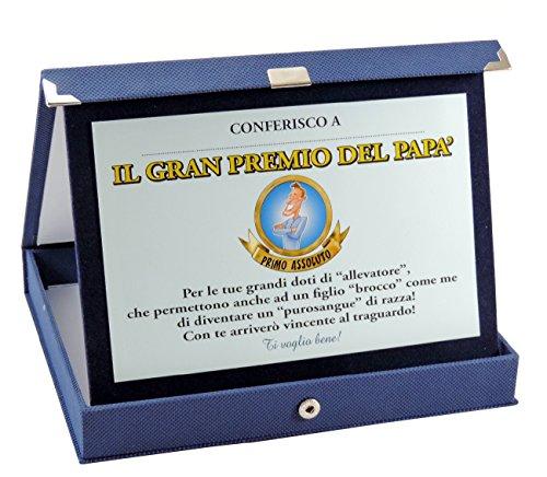 Targa papà con dedica gran premio del papa' idea regalo festa del papà primo premio