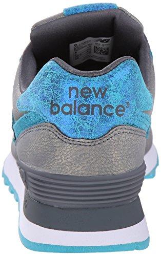 New Balance Scarpe da Ginnastica Grey MGC WL574 Azzuro-Oro