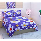 Loomsense 100% Cotton 3D 5D Printed Double Bedsheet With Two Pillow Cover (90X100)Inches,multicolour Digital Print - B0789M7DV8