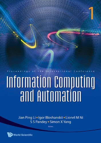 Information Computing and Automation: Proceedings of the International Conference, University of Electronic Science and Technology of China, China, 20-22 December 2007 (2008-04-30)