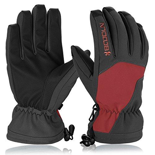 Skihandschuhe, HiCool Ski-/Snowboard-Handschuhe Sporthandschuhe Winterbekleidung Thermohandschuhe für Herren Damen (Orange/Schwarz, M)