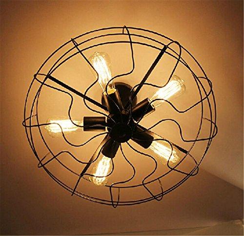 H&M Indoor Leuchten Kronleuchter Schmiedeeiserne Leuchter Fan Kronleuchter Esszimmer Wohnzimmer Kronleuchter - Bronze Traditionellen Indoor-fan