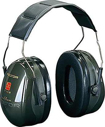 3M PELTOR Optime II Earmuffs, 31 dB, Green, Headband, H520A-407-GQ