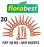 Florabest 20 Kunststoffmesser Florabest Akku Rasentrimmer FAT 18 B3 - LIDL IAN 102971 - FAT 18B3 / FAT18B3 / Material PA6