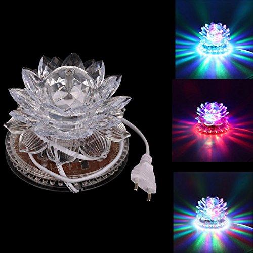 Efecto de loto luces de cristal de rotación de 11 W LED RGB plataform
