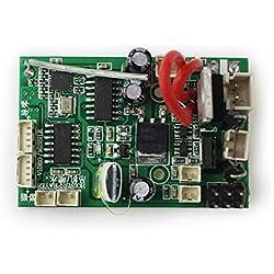 TOOGOO Placa de Receptor PCB RC para Wltoys V912 V912-16 RC Drone UAV Piezas de helicoptero