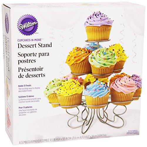 Wilton Cupcake 'n' More Ständer für 13 Cupcakes, Silber Wilton Cupcake Ständer
