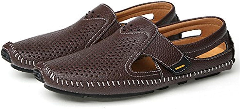 Auspiciousi 2018 Summer New Sandalias para Hombres Zapatos de Playa de Cuero para Hombres Sandalias Pantuflas