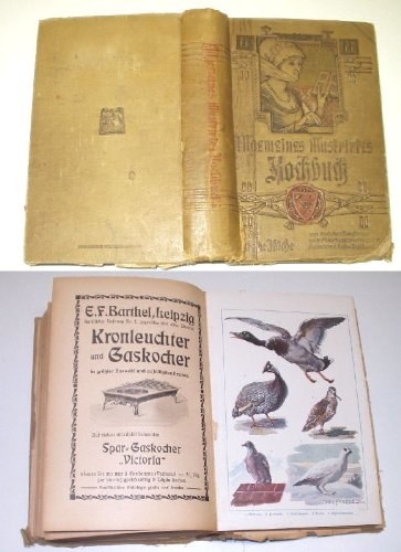 Bestell.Nr. 917937 Allgemeines illustriertes Kochbuch für die deutsche Küche von deutschen Hausfrauen unter Mitwirkung hervorragender Autoritäten der Koch- und Backkunst